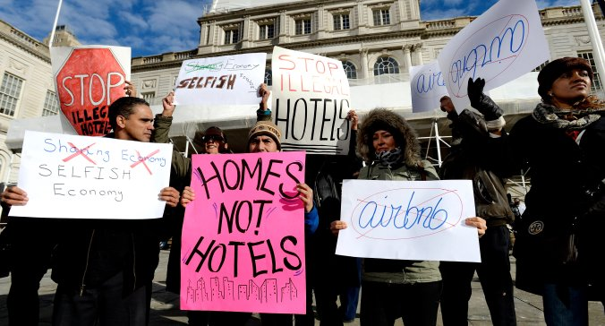 Airbnb Protest