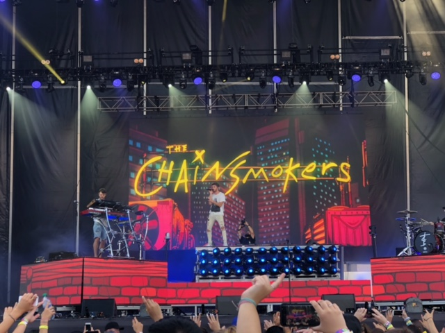 Cannot believe we were this close to The Chainsmokers!