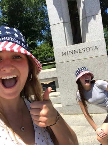 Proudly supported the D.C. street vendors by purchasing three American bucket hats...also go MN!!