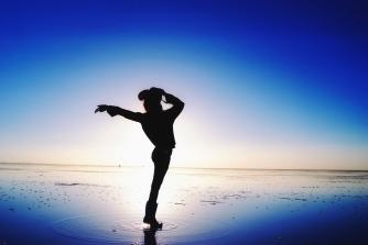 MJ pose at Salt lake